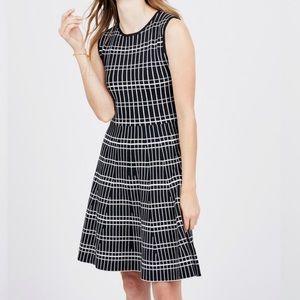 Zara Black & White Jersey Knit Mini Skater Dress